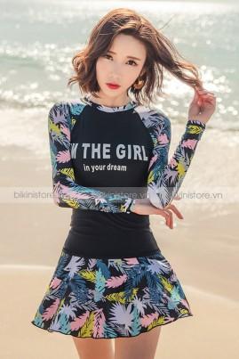 2 Mảnh tay dài váy The Girl